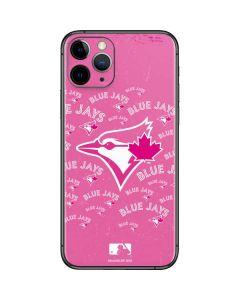 Toronto Blue Jays Pink Cap Logo Blast iPhone 11 Pro Skin