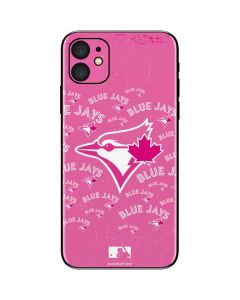 Toronto Blue Jays Pink Cap Logo Blast iPhone 11 Skin