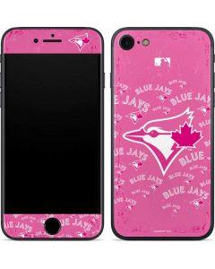 Toronto Blue Jays Pink Cap Logo Blast iPhone SE Skin