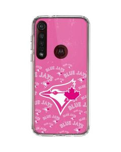 Toronto Blue Jays Pink Cap Logo Blast Moto G8 Plus Clear Case