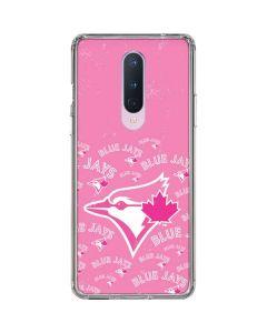 Toronto Blue Jays Pink Cap Logo Blast OnePlus 8 Clear Case