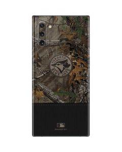 Toronto Blue Jays Realtree Xtra Camo Galaxy Note 10 Skin