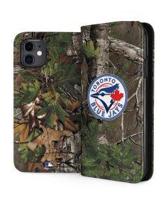 Toronto Blue Jays Realtree Xtra Green Camo iPhone 11 Folio Case