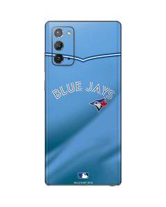 Toronto Blue Jays Retro Jersey Galaxy Note20 5G Skin
