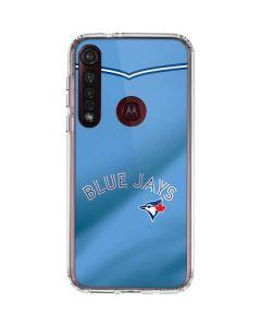 Toronto Blue Jays Retro Jersey Moto G8 Plus Clear Case