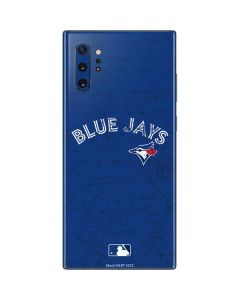 Toronto Blue Jays Solid Distressed Galaxy Note 10 Plus Skin
