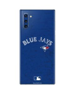 Toronto Blue Jays Solid Distressed Galaxy Note 10 Skin