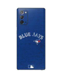 Toronto Blue Jays Solid Distressed Galaxy Note20 5G Skin