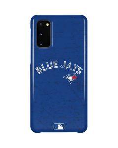 Toronto Blue Jays Solid Distressed Galaxy S20 Lite Case