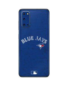 Toronto Blue Jays Solid Distressed Galaxy S20 Skin