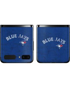 Toronto Blue Jays Solid Distressed Galaxy Z Flip Skin