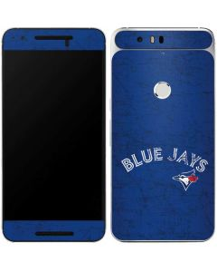 Toronto Blue Jays Solid Distressed Google Nexus 6P Skin