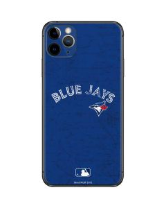 Toronto Blue Jays Solid Distressed iPhone 11 Pro Max Skin