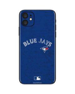 Toronto Blue Jays Solid Distressed iPhone 11 Skin