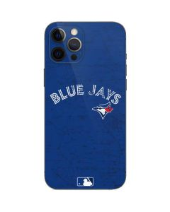 Toronto Blue Jays Solid Distressed iPhone 12 Pro Max Skin