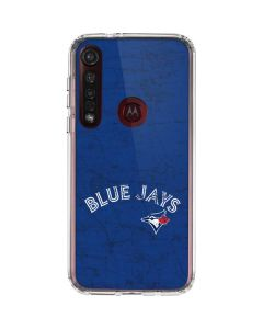 Toronto Blue Jays Solid Distressed Moto G8 Plus Clear Case