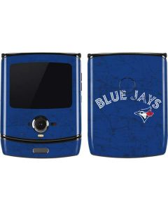 Toronto Blue Jays Solid Distressed Motorola RAZR Skin