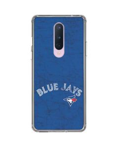 Toronto Blue Jays Solid Distressed OnePlus 8 Clear Case