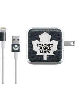 Toronto Maple Leafs Black Background iPad Charger (10W USB) Skin