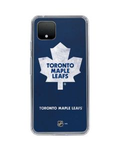 Toronto Maple Leafs Distressed Google Pixel 4 XL Clear Case