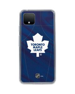 Toronto Maple Leafs Home Jersey Google Pixel 4 XL Clear Case