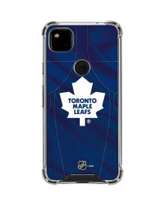 Toronto Maple Leafs Home Jersey Google Pixel 4a Clear Case