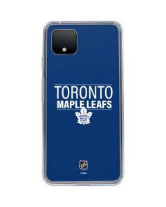 Toronto Maple Leafs Lineup Google Pixel 4 XL Clear Case