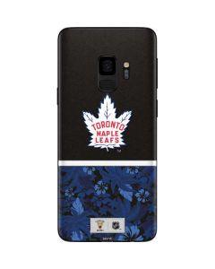 Toronto Maple Leafs Retro Tropical Print Galaxy S9 Skin