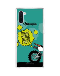 TransWorld Motocross Animated Galaxy Note 10 Clear Case
