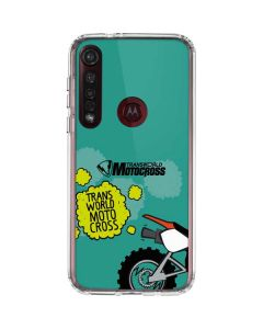 TransWorld Motocross Animated Moto G8 Plus Clear Case