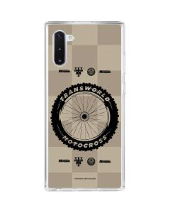 TransWorld Motocross Checkered Pattern Galaxy Note 10 Clear Case