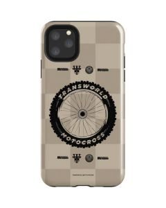 TransWorld Motocross Checkered Pattern iPhone 11 Pro Max Impact Case