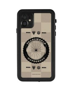 TransWorld Motocross Checkered Pattern iPhone 11 Waterproof Case