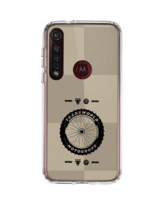 TransWorld Motocross Checkered Pattern Moto G8 Plus Clear Case