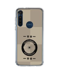TransWorld Motocross Checkered Pattern Moto G8 Power Clear Case