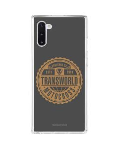 TransWorld Motocross Established 2000 Galaxy Note 10 Clear Case