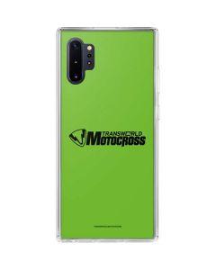 TransWorld Motocross Green Logo Galaxy Note 10 Plus Clear Case