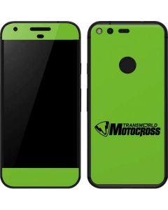 TransWorld Motocross Green Logo Google Pixel Skin