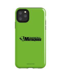 TransWorld Motocross Green Logo iPhone 11 Pro Max Impact Case