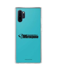 TransWorld Motocross Teal Logo Galaxy Note 10 Plus Clear Case