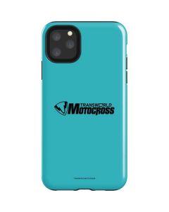 TransWorld Motocross Teal Logo iPhone 11 Pro Max Impact Case