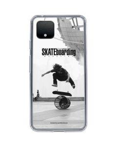 TransWorld SKATEboarding Black and White Google Pixel 4 Clear Case