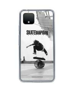 TransWorld SKATEboarding Black and White Google Pixel 4 Clear Case