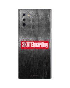TransWorld SKATEboarding Magazine Chalkboard Galaxy Note 10 Skin