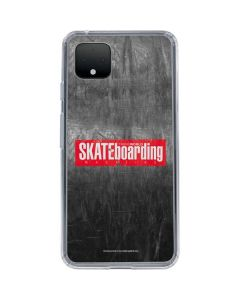 TransWorld SKATEboarding Magazine Chalkboard Google Pixel 4 Clear Case