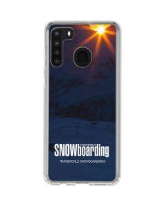 TransWorld SNOWboarding Dark Galaxy A21 Clear Case