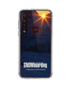 TransWorld SNOWboarding Dark Moto G8 Plus Clear Case