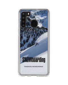 TransWorld SNOWboarding Galaxy A21 Clear Case