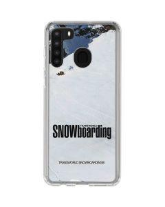 TransWorld SNOWboarding Mountain Galaxy A21 Clear Case