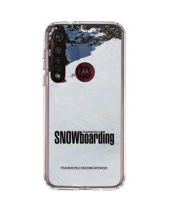 TransWorld SNOWboarding Mountain Moto G8 Plus Clear Case